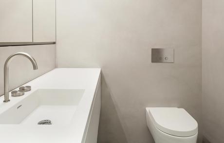 Beton Afwerking Badkamer : Cemcolori wand betonlook douche en wand afwerking