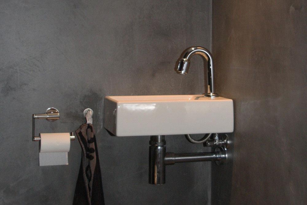 Badkamer Betonlook Wanden : Cemcolori wand betonlook douche en wand afwerking